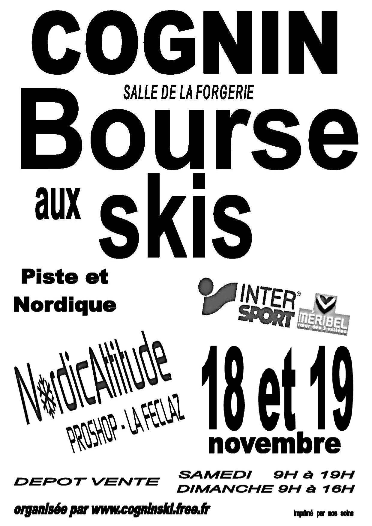 Bourse aux Skis 2017 - cognin - chambery - savoie